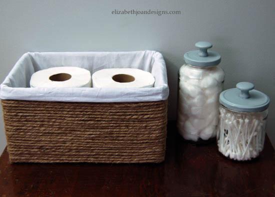 Transforma una caja en algo que querrás tener en tu baño