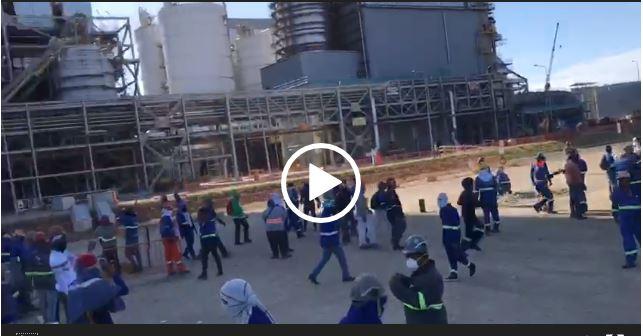 Sindicato de trabajadores protestaron en Punta Catalina,  EXIGEN PAGO DE BONIFICACIONES