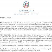 Decreto 504-20 emitido por el Presidente @LuisAbinader @PRM_Oficial