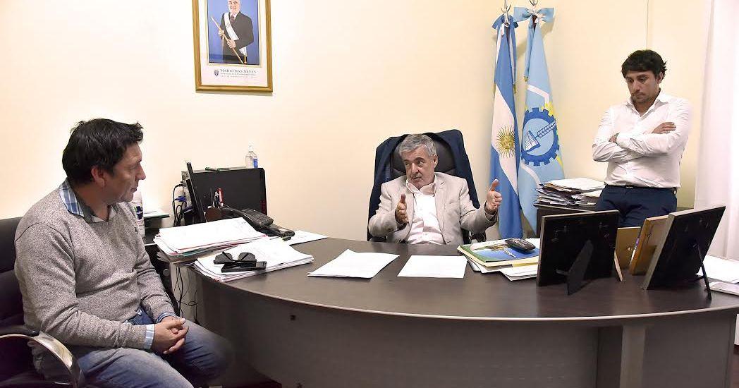Das Neves recibió al  dirigente de ATE, Hompanera