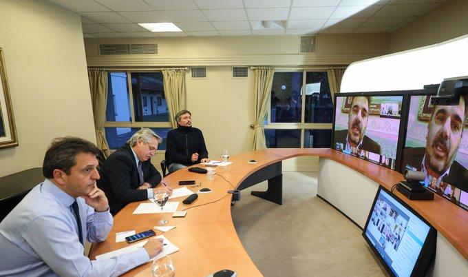 EL PRESIDENTE, EN REUNIÓN VIRTUAL CON LEGISLADORES DE LA OPOSICIÓN Y EL OFICIALISMO