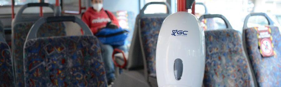 EMT Autobusos Dispensadors de gel