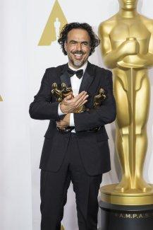 Alejandro G. Iñárritu, indiscutible ganador de la noche con 3 Oscar