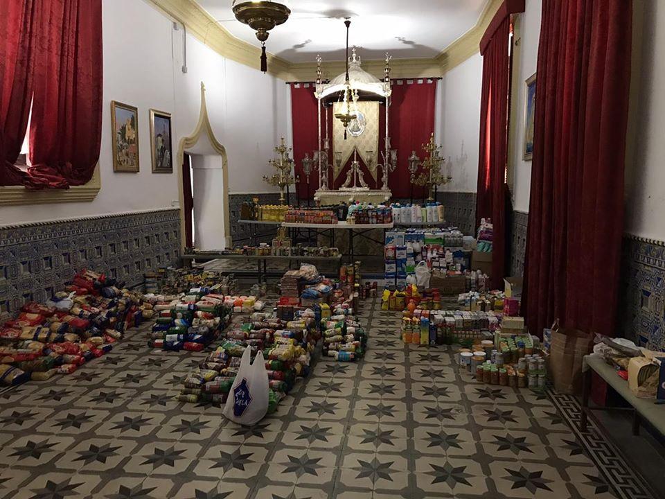 El Grupo Joven Virgen de Gracia recoge más de 2500 kilos de alimentos 2