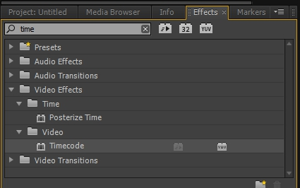 timecode effects