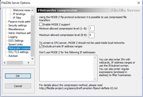 filezilla server - speed limits