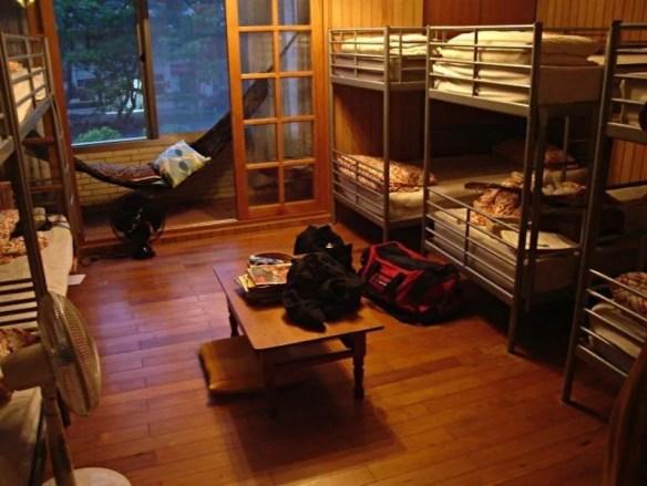 Dormitorio típico de un hostel