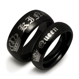 queen and king rings