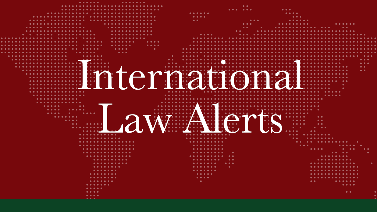 MAY 2020 | International Law Alerts | Trade and Investment