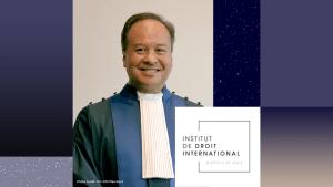 Judge Pangalangan is elected member of Institut de Droit International