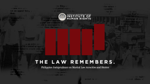 Jurisprudence on Martial Law Atrocities and Stories