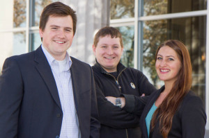 The team of Ian Quiel, Adam Knorr and Kirsten Allen