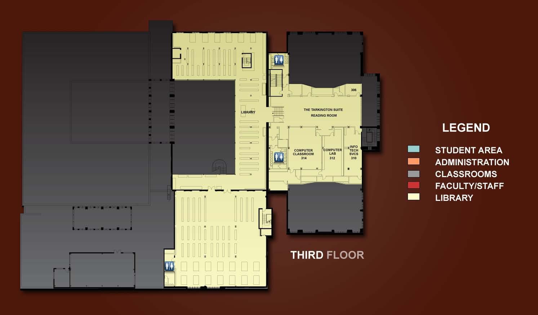 3rd Floor  Floor Plans Room Index  Tour the Building  About the School  Law School