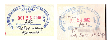 Residency Abandonment Warning Stamps by CBP