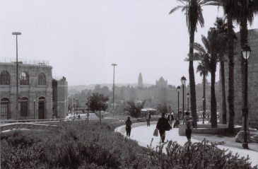 Each day in Jerusalem began with a walk to the Jaffa Gate, one of the seven entrances to the Old City. Divided into four uneven quarters (Jewish, Christian, Muslim, Armenian) and surrounded by the walls built by Suleiman in the early 16th century, the Old City is sacred to the three great monotheistic religions – Judaism, Christianity, and Islam.