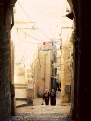 If you want to leave the Old City, walk up.