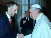 Dean Michael A. Simons and Pope Francis