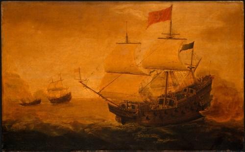 Spanish_Galleon_Firing_its_Cannon