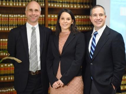 Movsesian and DeGirolami with Global Law Fellow Fabiana Dal Cin