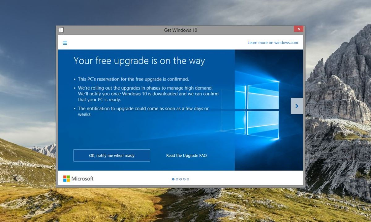 Memaksa Update Windows 10