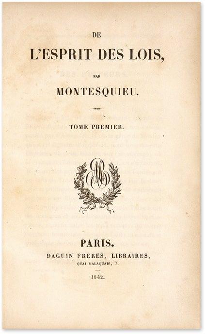 Montesquieu L Esprit Des Lois : montesquieu, esprit, L'Esprit, Montesquieu, Commentaire, L'Esprit.., Stephen, Field,, Secondat