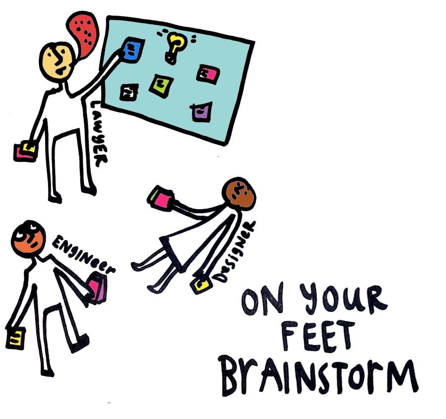 Legal Design Innovation - better brainstorming - on your feet