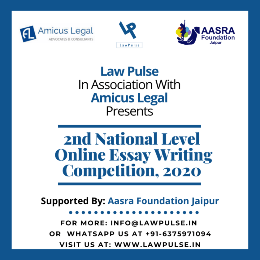 2nd NATIONAL LEVEL ESSAY WRITING COMPETITION, 2020 by LAWPULSE