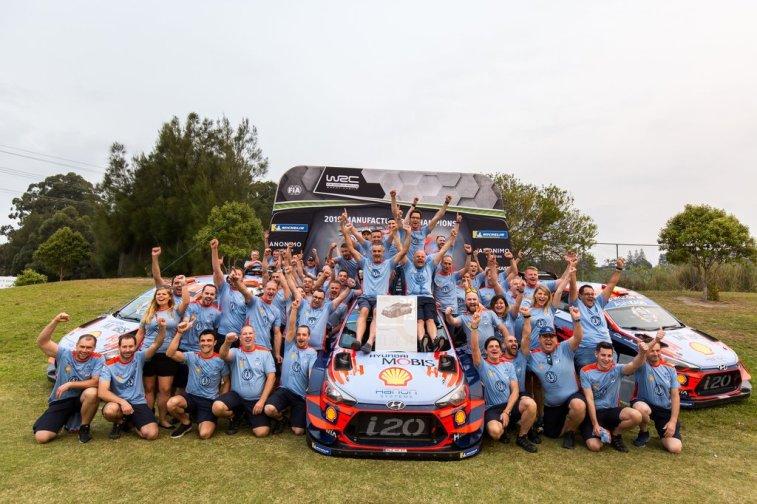 HYUNDAI MOTORSPORT CAMPEONES WRC 2019 © Fabien Dufour/Hyundai Motorsport