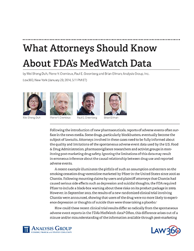 What Attorneys Should Know About FDA's MedWatch Data