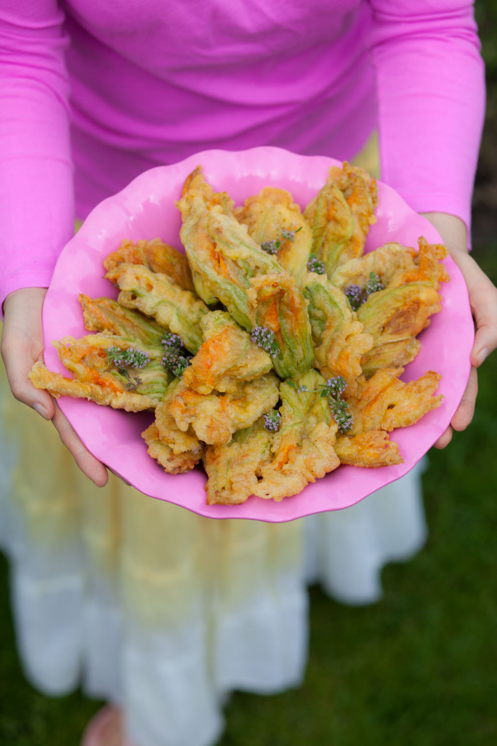 Kwiaty cukinii w tempurze