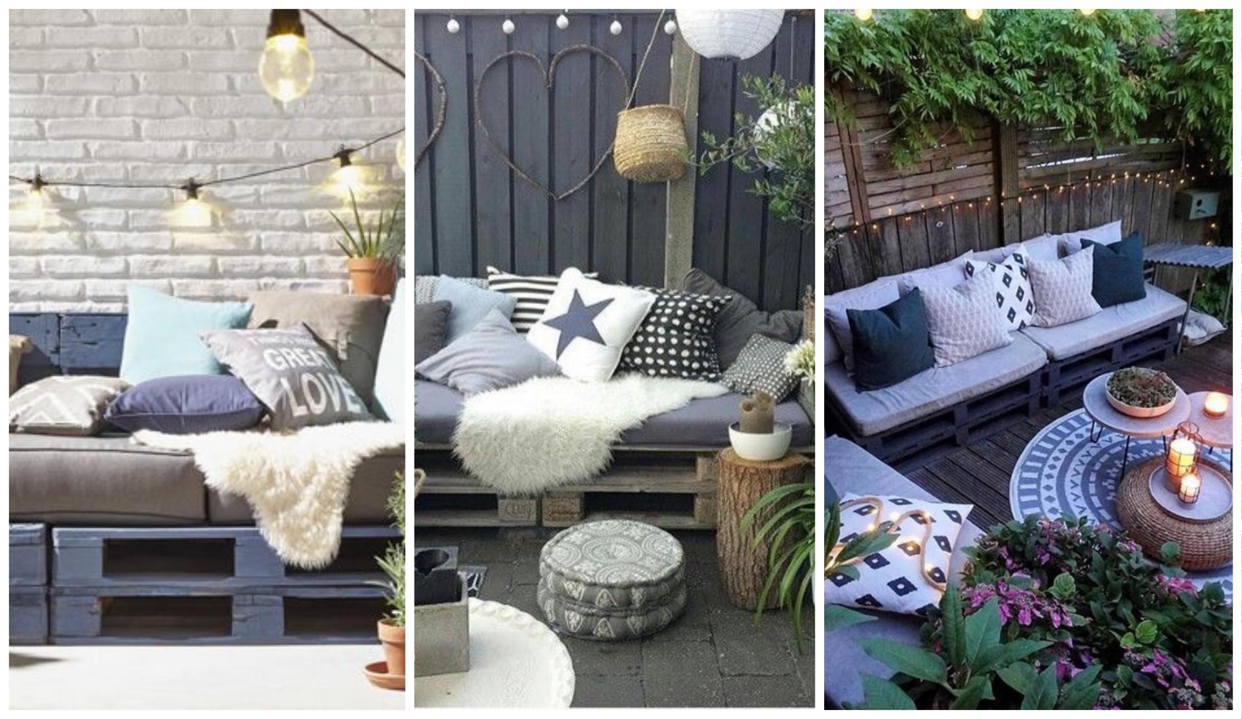 Meble ogrodowe z palet, czyli salon pod chmurką z odzysku