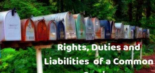 Rights, Duties and Liabilities of a Common Carrier