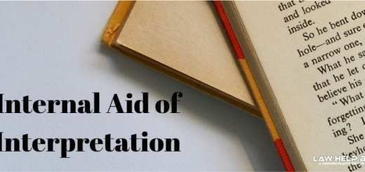 Internal Aid of Interpretation