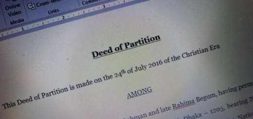Deed of partition