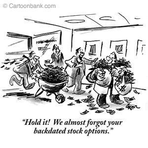 Backdating stock options
