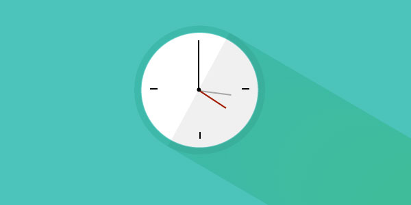 clock-flat-design