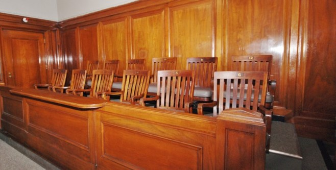 P - jury box