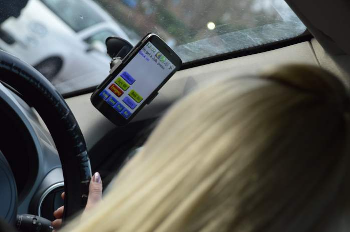 Lawlor Taxi Driver App in Vehicle