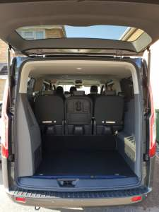 Lawlor Taxis 9 Seater Minibus Boot size