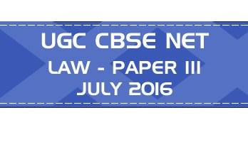 UGC NET Law Paper 3 Previous Question Paper III Mock Test JULY 2016 LawMint