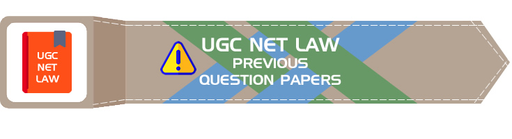 UGC NET LAW Previous Question Papers - LawMint