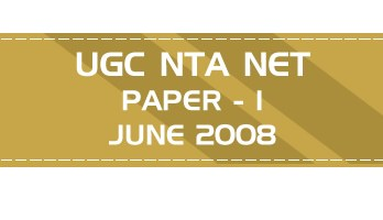 UGC NTA NET Paper 1 HECI Previous Question Papers Mock Tests June 2008