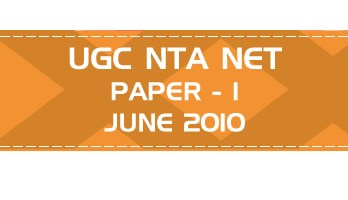 UGC NTA NET Paper 1 HECI Previous Question Papers Mock Tests June 2010