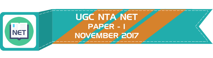 UGC NTA NET Paper 1 - HECI - Previous Question Papers Mock Tests November 2017