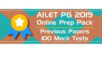 AILET PG LLM 2019 Mock Tests Previous Question Papers - NLU Delh Entrance