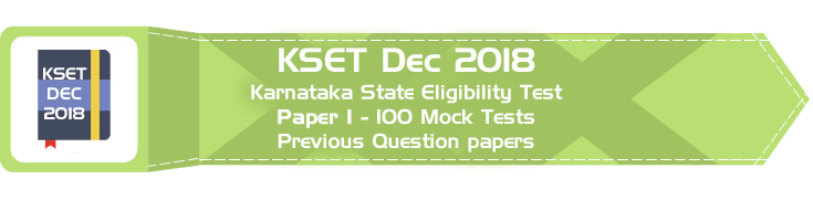 KSET Dec 2018 Karnataka State Eligibility Test Paper 1 Official Syllabus Mock Tests Sample Papers