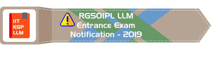 RGSOIPL LLM Entrance 2019 IIT KGP - Rajiv Gandhi School of Intellectual Property Law Mock Test Model Papers