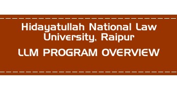 Hidayatullah National Law University CLAT LLM PG OVERVIEW LawMint.com