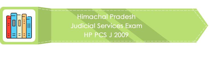 Himachal Pradesh Judicial Services Exam HP PCS J 2009 LawMint.com Judiciary Exam Mock Tests Civil Judge Previous Papers Legal Test Series MCQs Study Material Model Papers