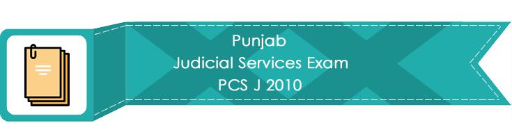 Punjab Judicial Services Exam PCS J 2010 LawMint.com Judiciary Exam Mock Tests Civil Judge Previous Papers Legal Test Series MCQs Study Material Model Papers